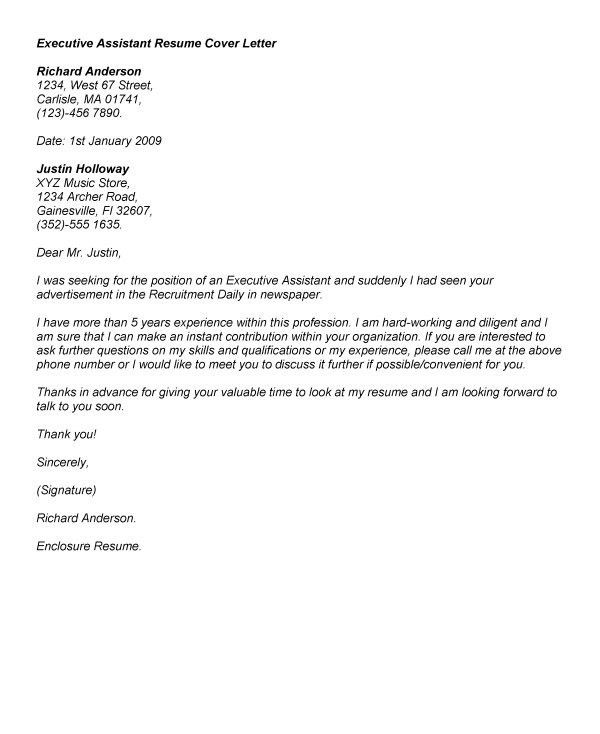 administrative assistant cover letter examples inside - Administrative Position Cover Letter