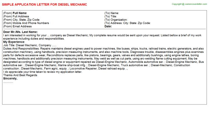 Diesel Mechanic Job Title Docs