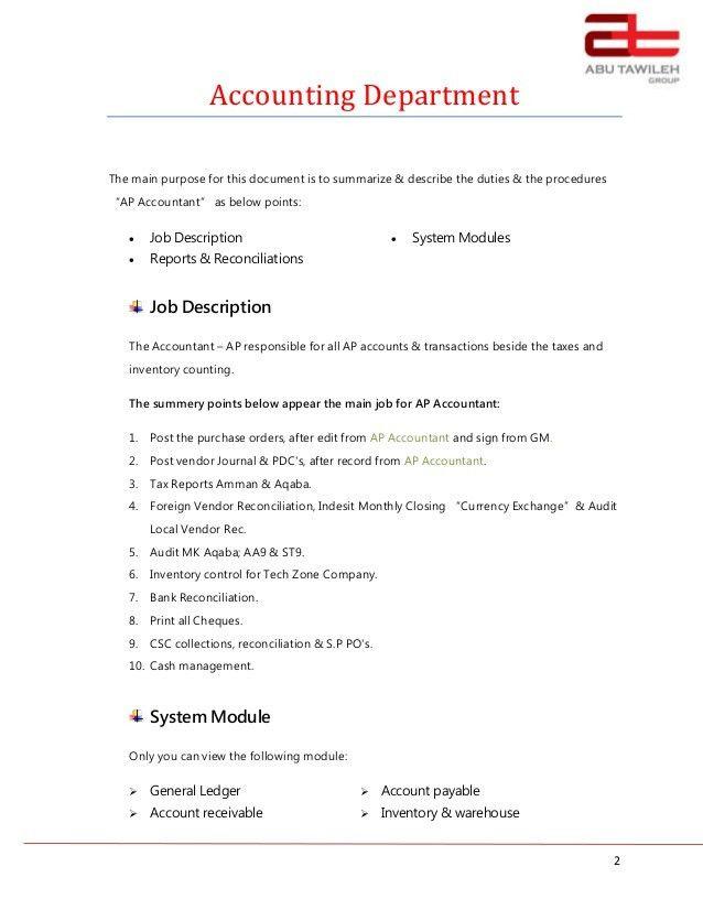 Job Description - AP Accountant Ayman (1)