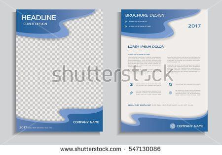 Vector Flyer Template Design Front Page Stock Vector 376567003 ...
