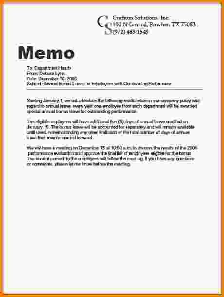 7+ business memo example - LetterHead Template Sample