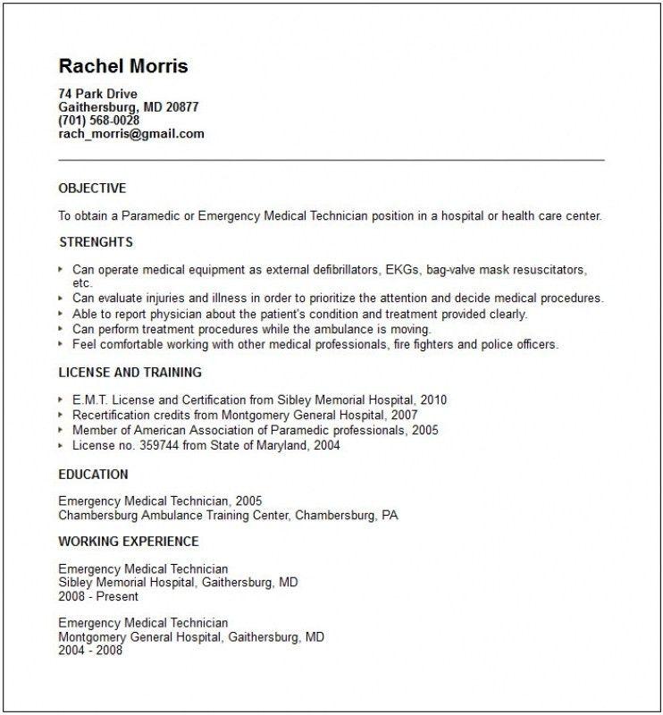 Ekg Technician Job Description Resume - Contegri.com