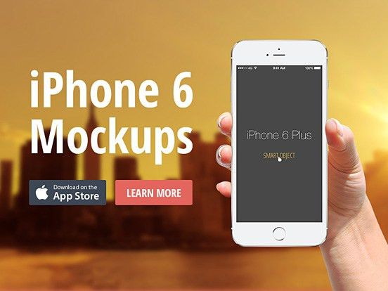 Best iPhone 6 and iPhone 6 Plus Mockup Design Templates | The ...