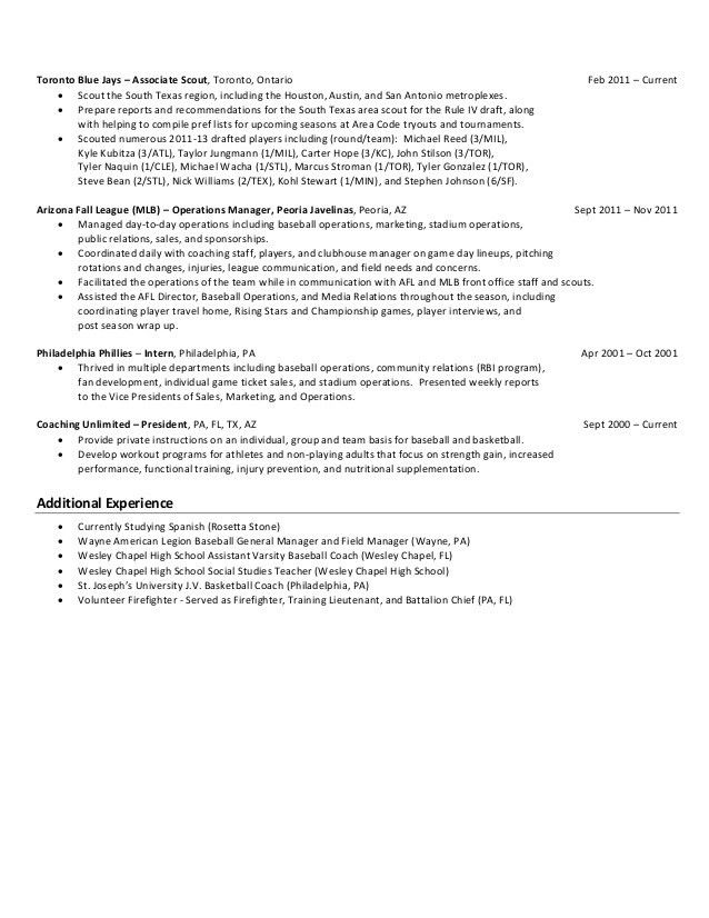 baseball coach resume medium size baseball coach resume large size ...