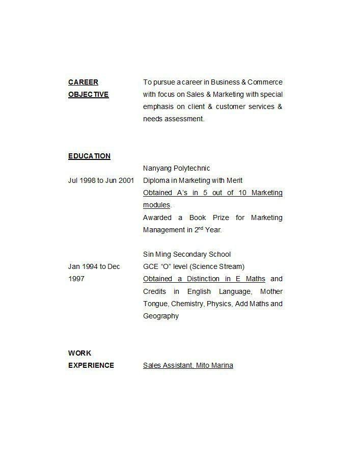 Resume Template Customer Service