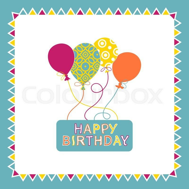 Happy birthday card design with balloons, creative greeting card ...