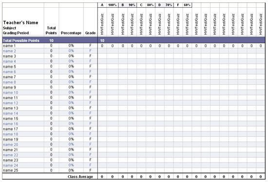 Excel Gradebook Template | If I Ever go Back to Teaching ...