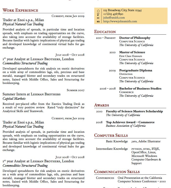 2 Pages Resume Format Download - Contegri.com
