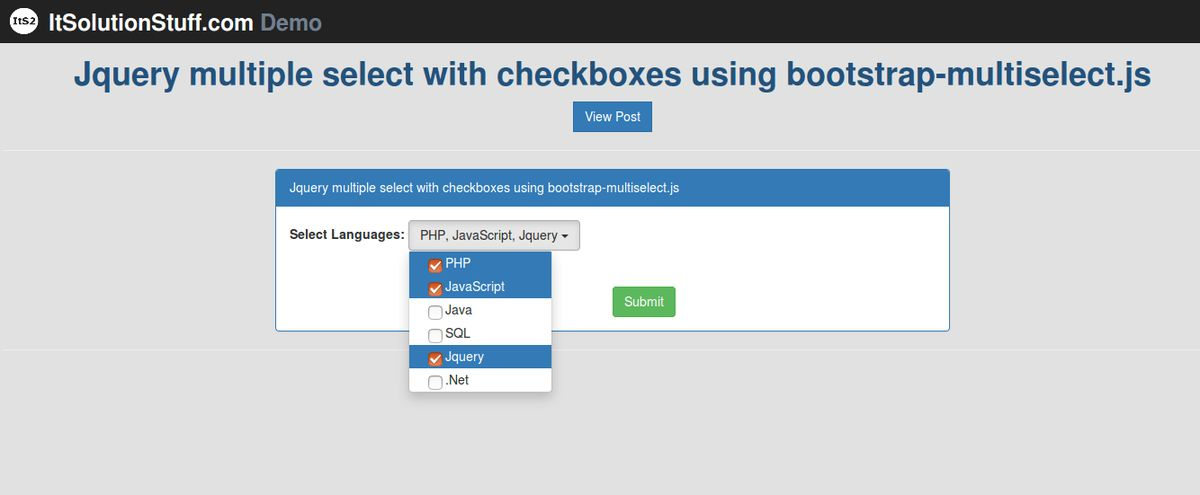 Bootstrap - Jquery multiple select with checkboxes example using ...