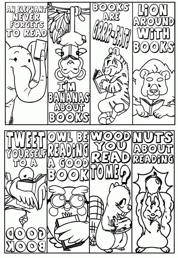 Free Printable Christmas Coloring Bookmarks: 141 best bookmarks ...