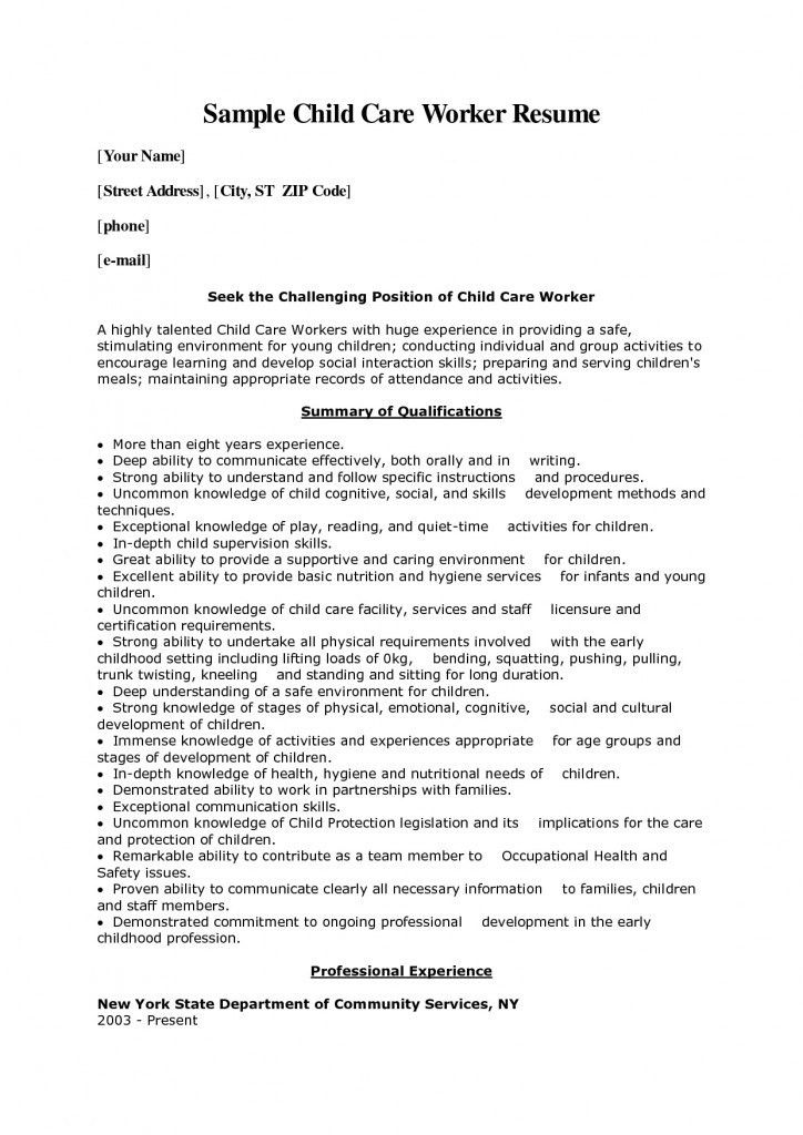 sample cover letter for child care worker download sample child