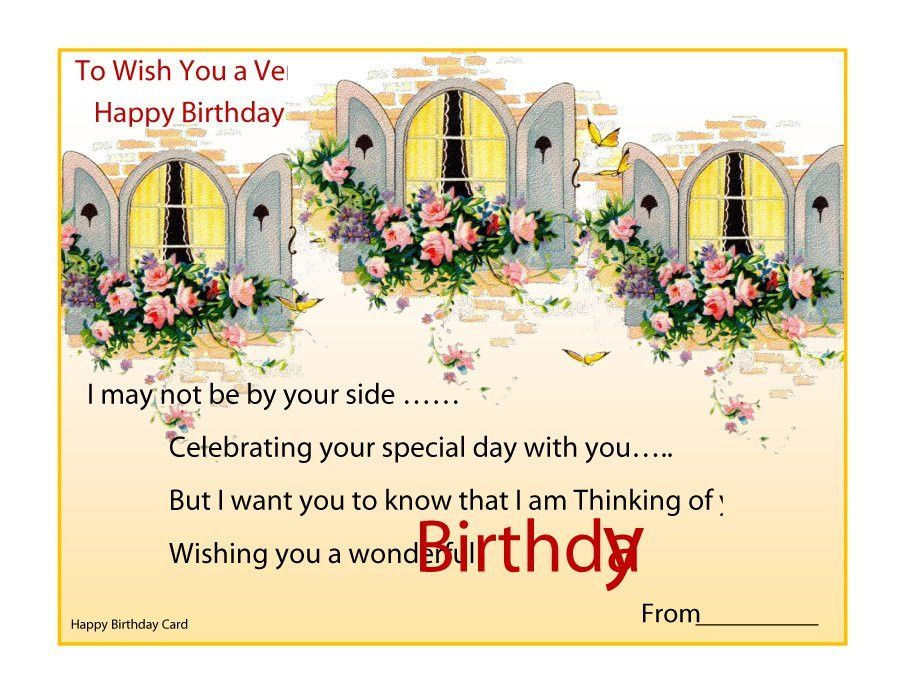 Birthday Wishes Templates Word | Blank.csat.co
