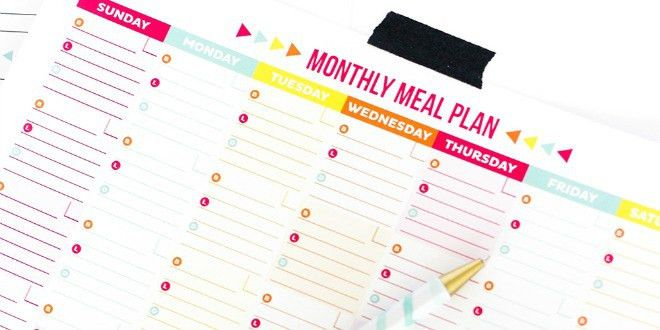 30 Family Meal Planning Templates {weekly, monthly, budget} | Tip ...