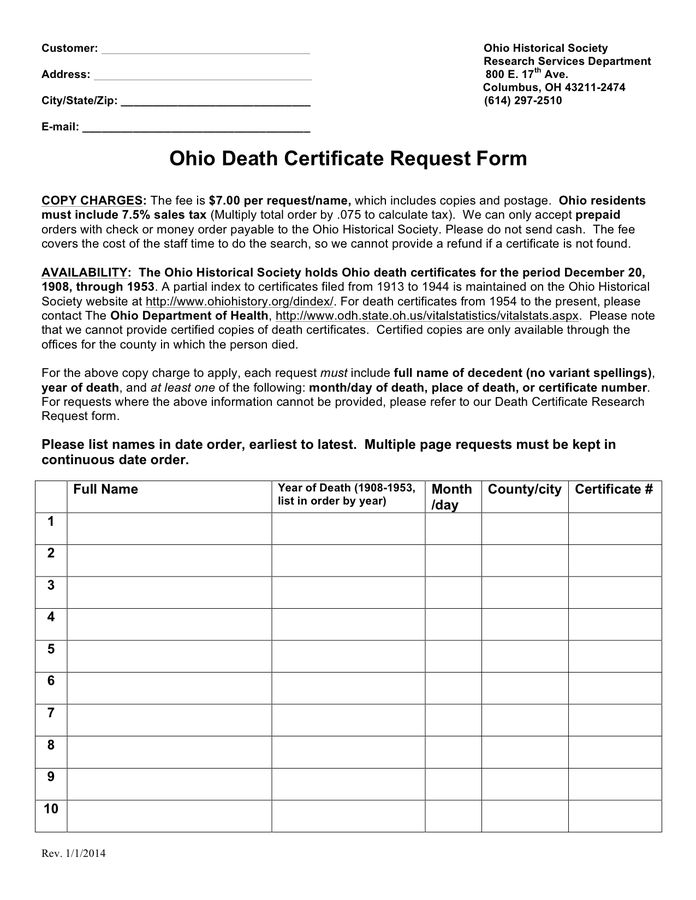 Death Certificate Template - download free documents for PDF, Word ...