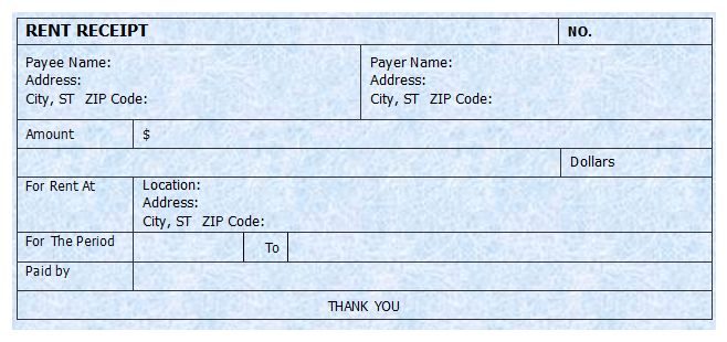 Rent Receipt Format | Microsoft Word Templates