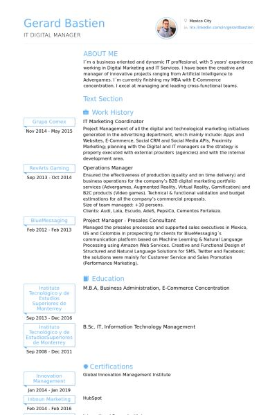 marketing coordinator resume samples