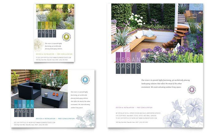 Urban Landscaping Flyer & Ad Template Design