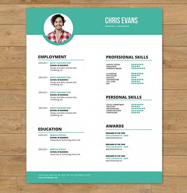 30+ Business Resume Templates - Free PSD, AI, Word, EPS