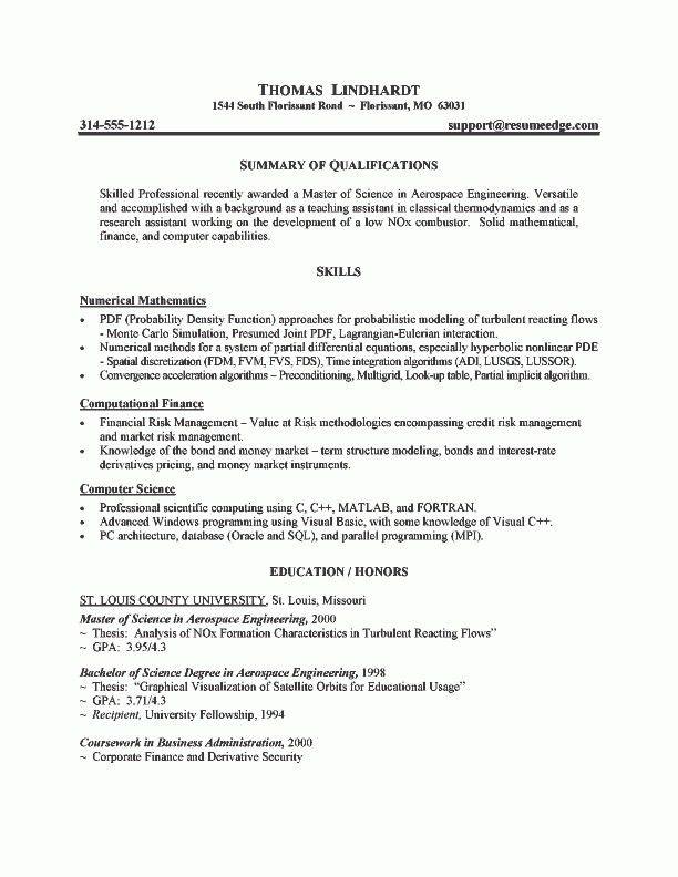 Graduate School Resume Objective - Best Resume Collection