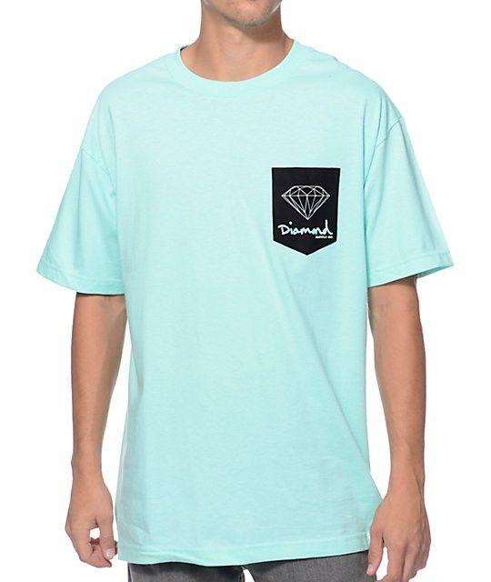 Supply Co OG Sign Diamond Blue Pocket T-Shirt