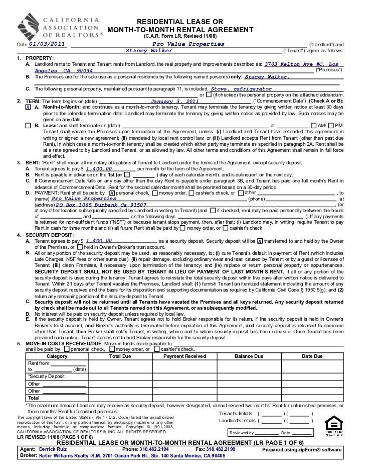 residential room rental agreement form. sublease agreement ...