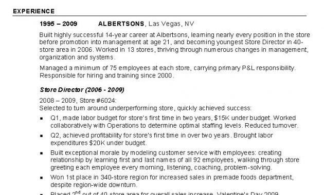 retail salesperson. sales objectives for resumes sales advertising ...