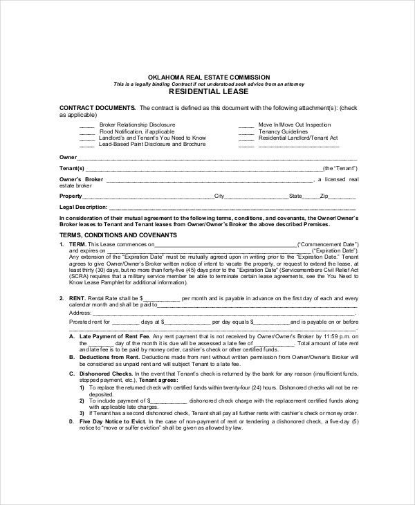 Residential Lease Template - 7+ Free Word, PDF Documents Download ...