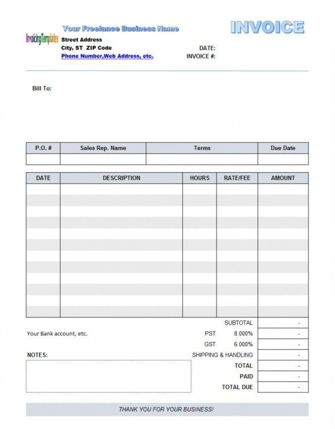 Freelance Invoice Template Australia | Design Invoice Template