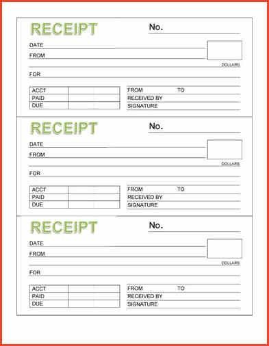 FREE PRINTABLE RECEIPTS | Proposalsheet.com