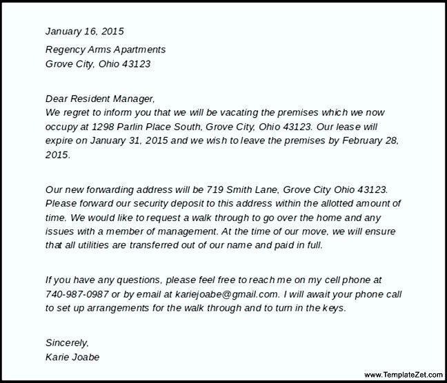 apartment lease termination letter sample theapartment template ...