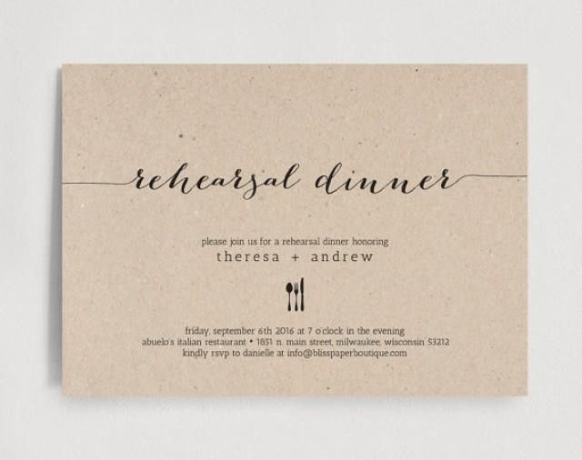 Rehearsal Dinner Invitations Templates | dancemomsinfo.com