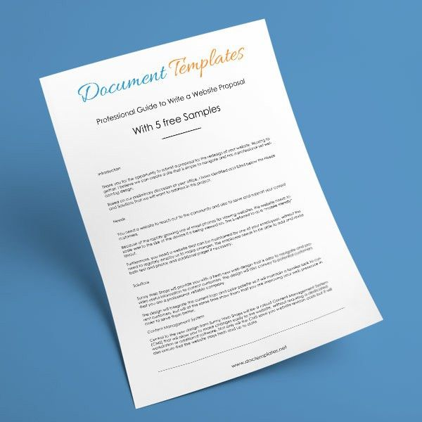 Free Business Proposal Templates at Document Templates