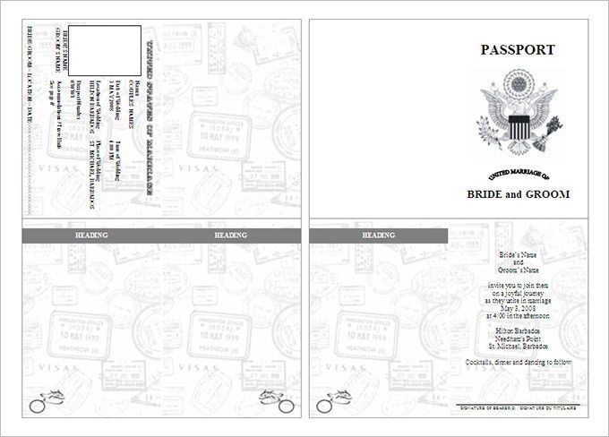 sample passport template