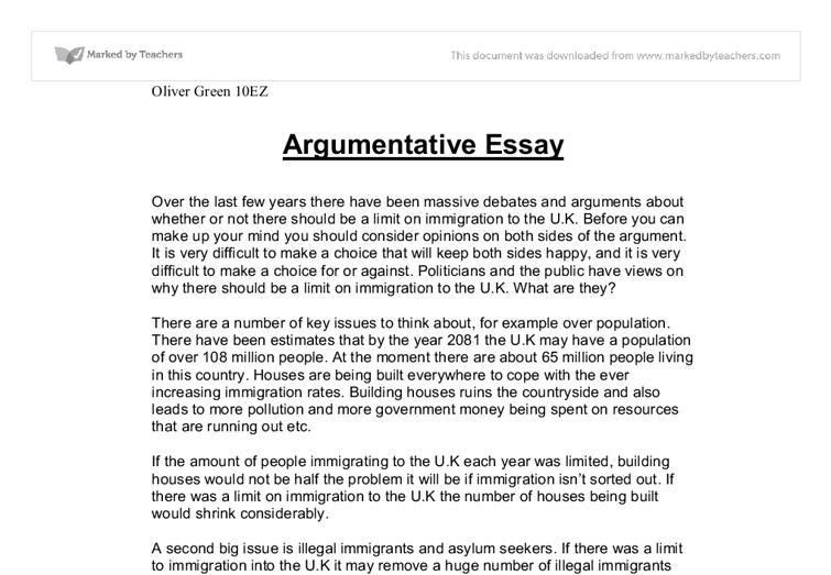 Download Writing An Argumentative Essay Example ...
