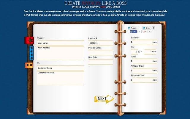 Free Invoice Generator - Chrome Web Store