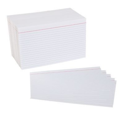 "Staples® 5"" x 8"" Line Ruled White Index Cards, 500/Pack 