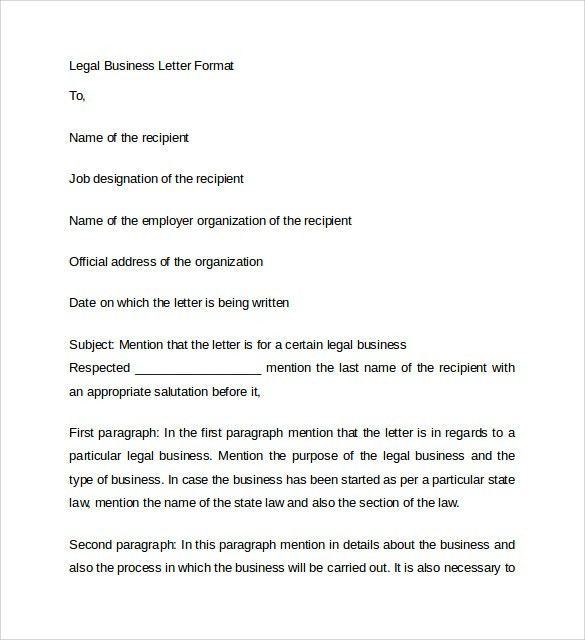 Business Letters - 7+ Free Samples, Examples & Formats