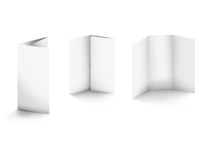 Roll Fold/Tri Fold | Mock up - blank packaging - templates ...