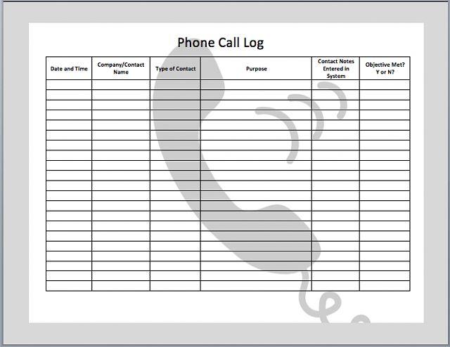 printable phone message log template