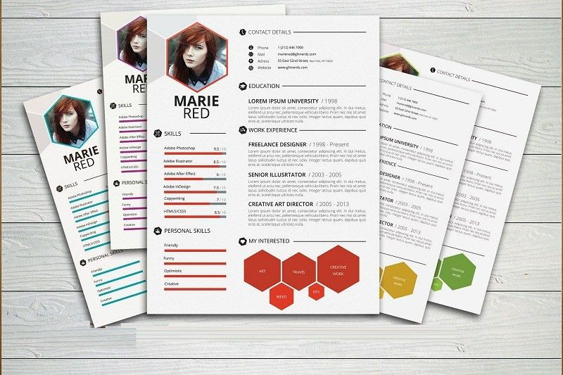 20 Awesome Premium PSD Resume CV Templates