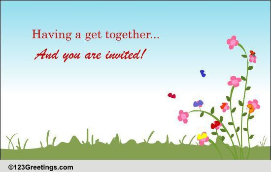 Invite For A Get-together! Free Party eCards, Greeting Cards | 123 ...