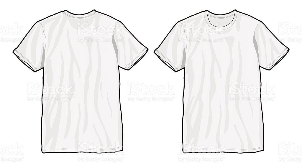 Tshirt Template White Unisex Blank Tshirt Illustration Template ...