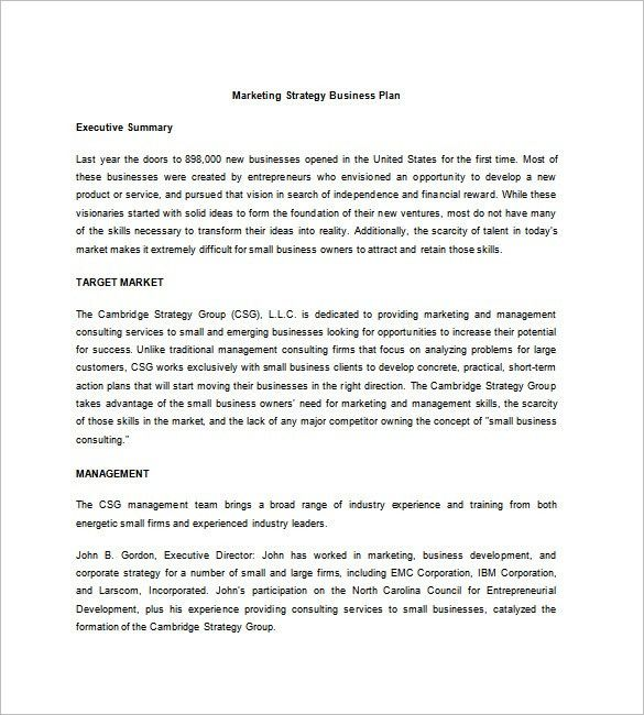 Strategic Business Plan Template – 8+ Free Word, Excel, PDF Format ...