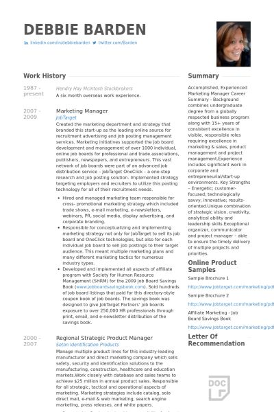 National Sales Manager Resume samples - VisualCV resume samples ...