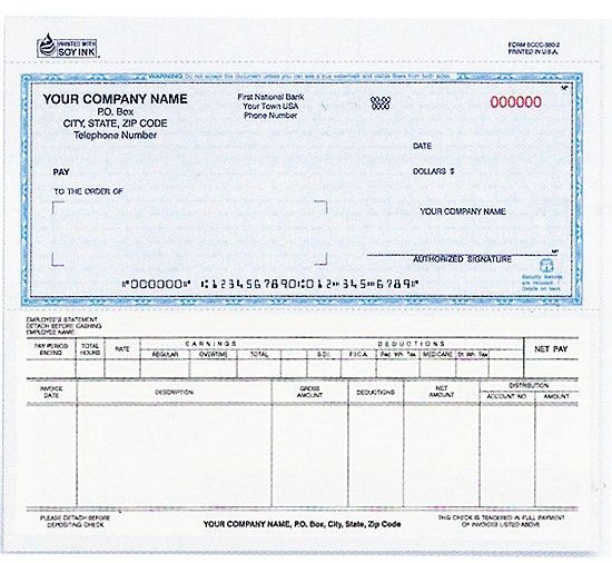 130, Snap-a Part Payroll/Disbursement Voucher Check