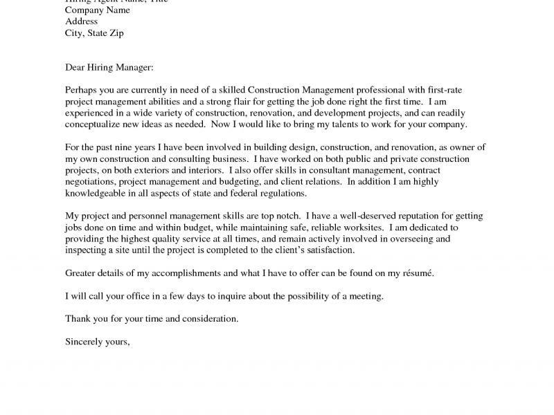 construction cover letters