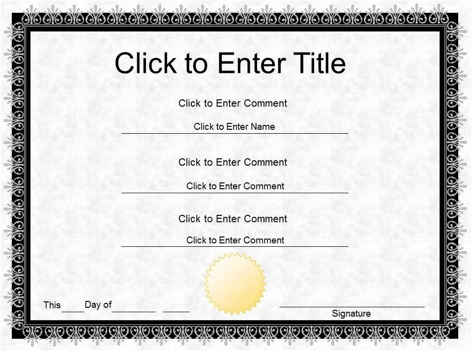 Completion Certificate Template | Certificate Templates