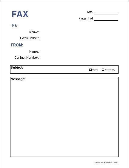 Free Fax Cover Letter Templates   The Letter Sample