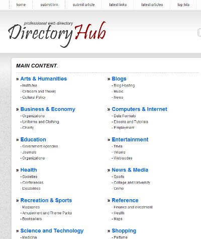 PHP Link Directory Template Archive - List of Templates for Version4.2