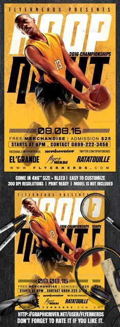 BasketBall Game Flyer PSD Template - Sports Events | My Flyer ...